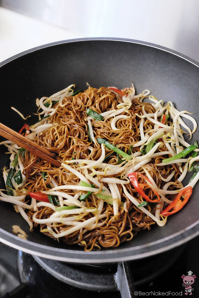 Bear Naked Food easy stir fry soy sauce noodles