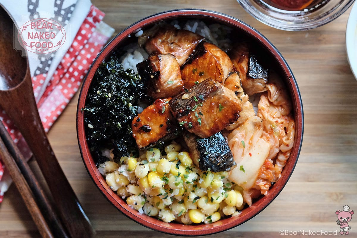 51d91c329da5 Bear Naked Food grilled salmon rice bowl