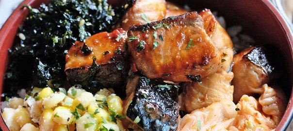 Bear Naked Food grilled salmon rice bowl
