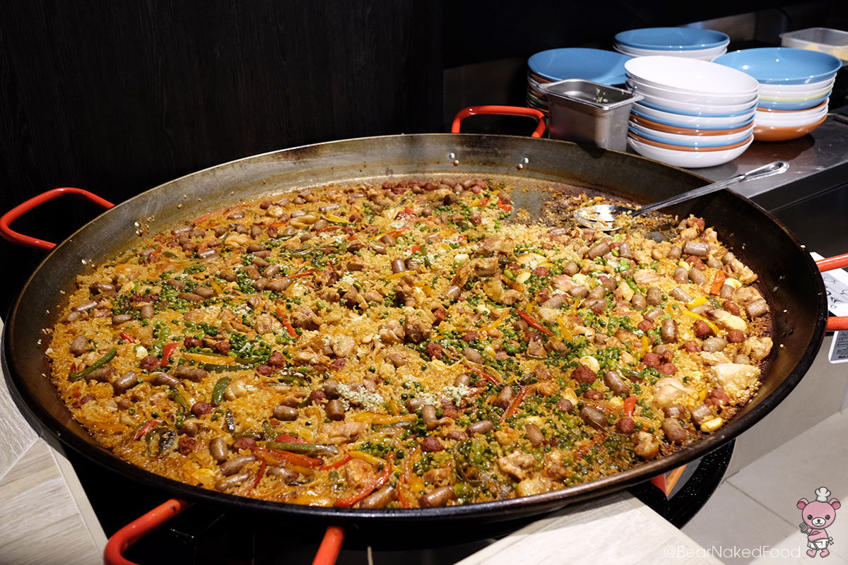 Larger-than-life paella.