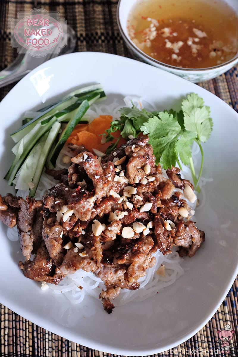 Bear Naked Food Vietnamese grilled pork with rice vermicelli