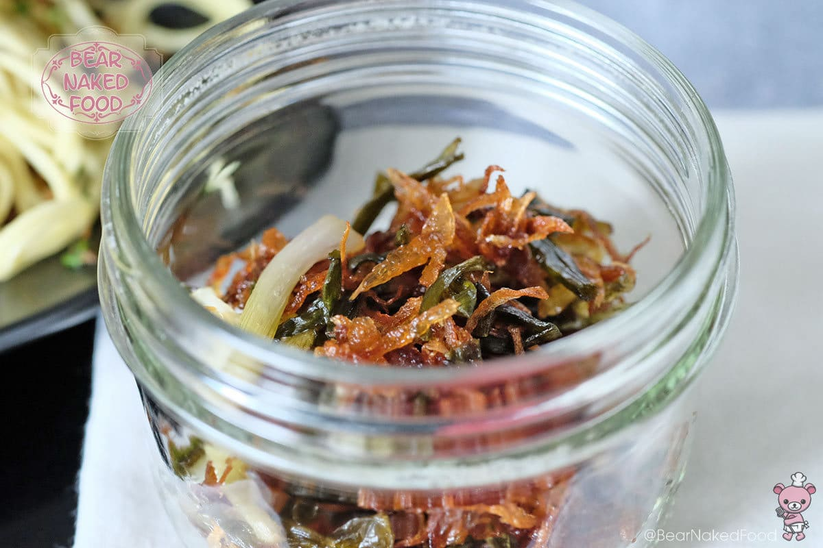 The crispy shallot and scallion make great garnishes for noodles or rice dishes.