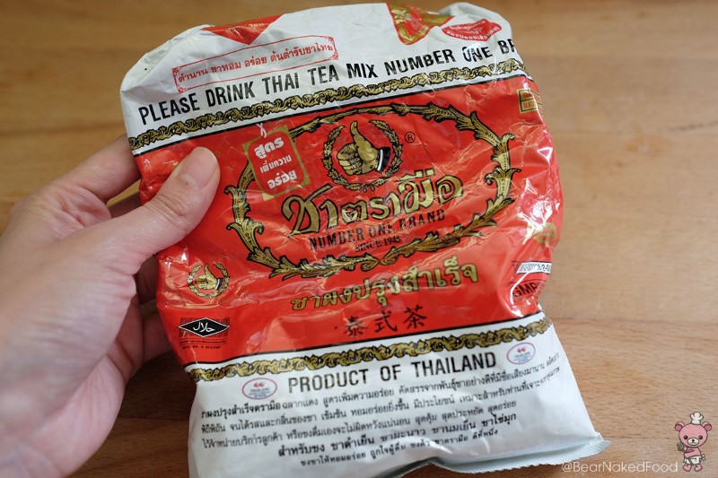 I got this bag of Thai tea leaves from the Thai supermarket at Golden Mile Complex.