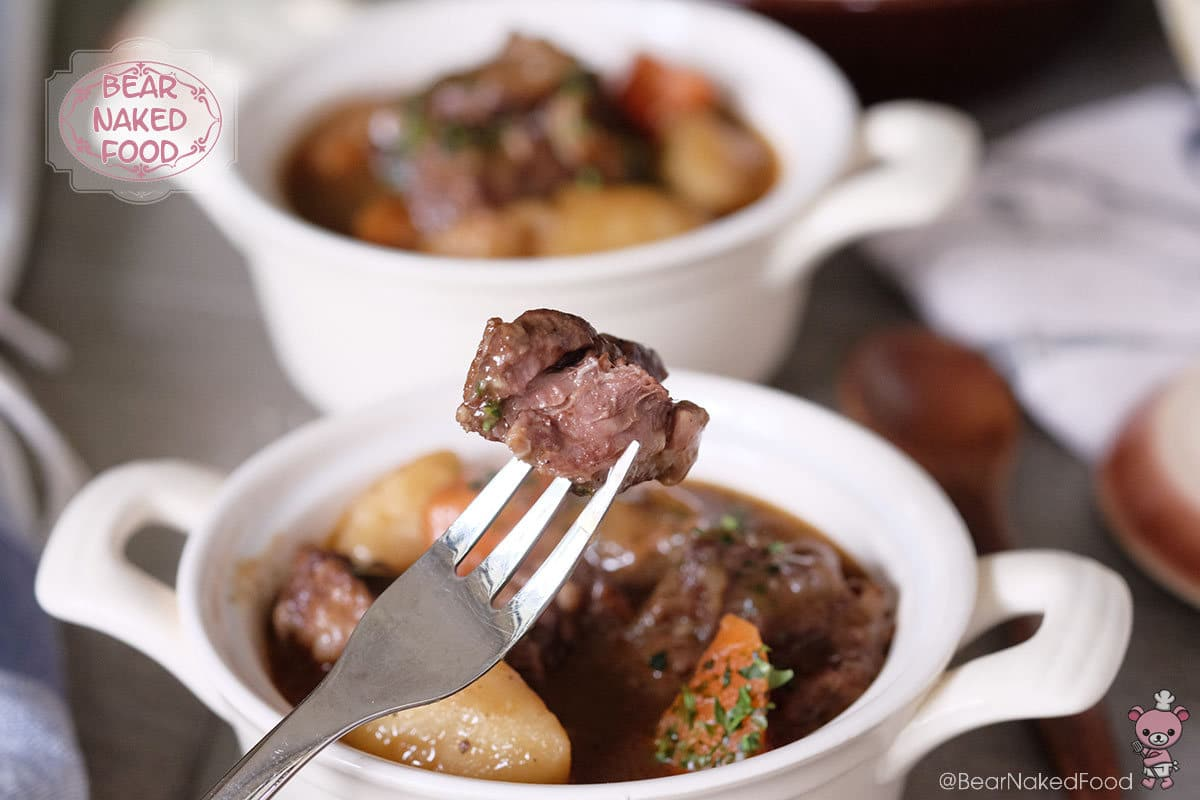 Bear Naked Food Fall-apart beef stew with carrots and potatoes