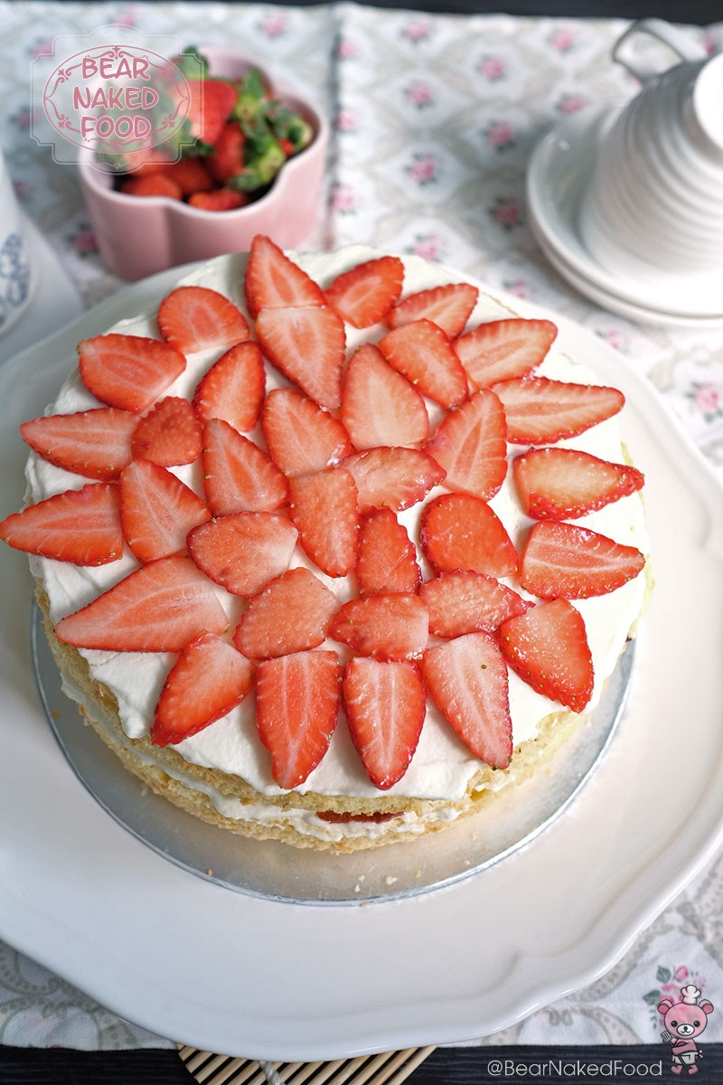 Bear Naked Food Victoria Sandwich Sponge with Roasted Strawberries