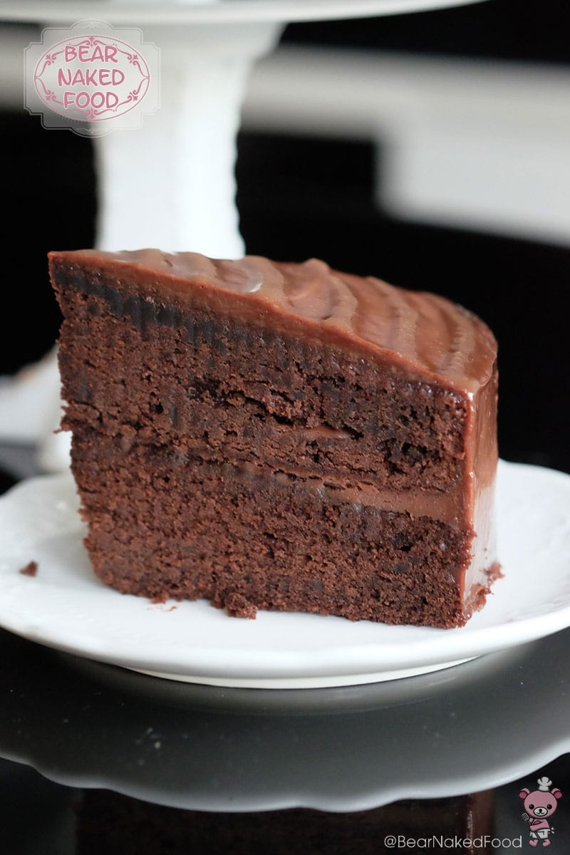 Chocolate Layer Cake with Caramel Ganache | Bear Naked Food