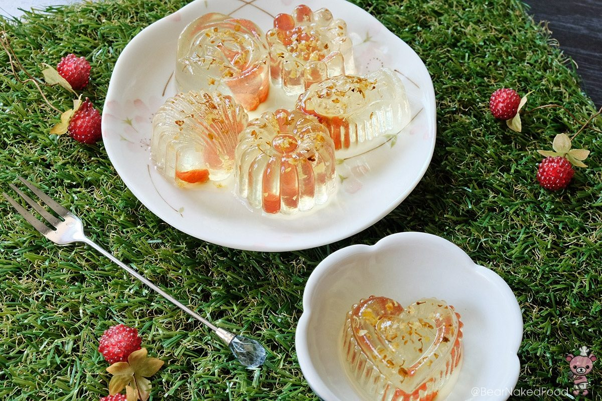 Osmanthus Flower Jelly with Wolfberries