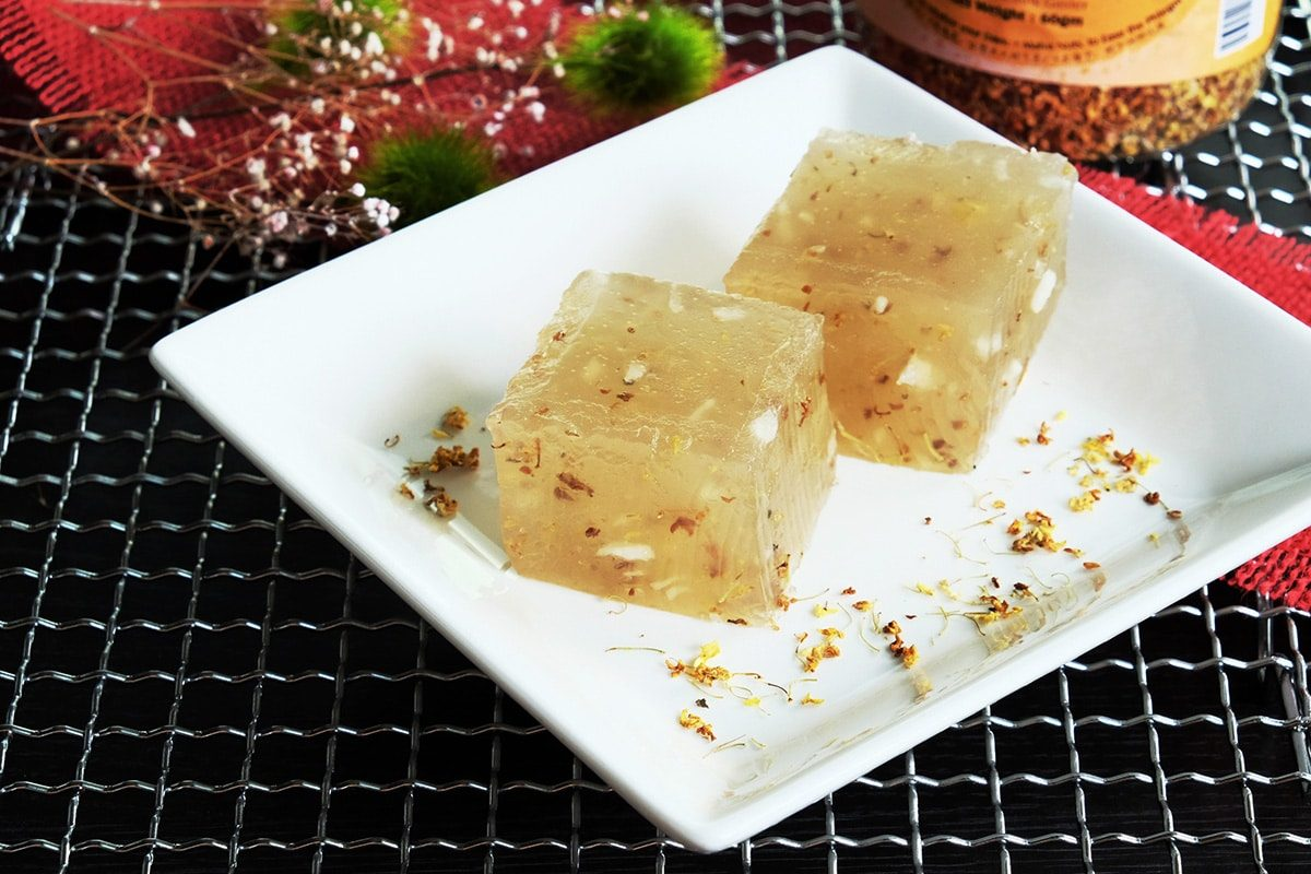Water Chestnut Cake With Osmanthus Recipe