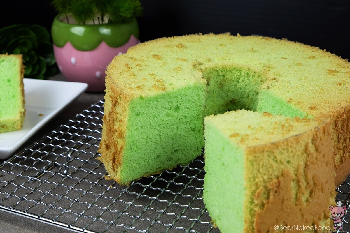 Fluffy Pandan Chiffon Cake Recipe