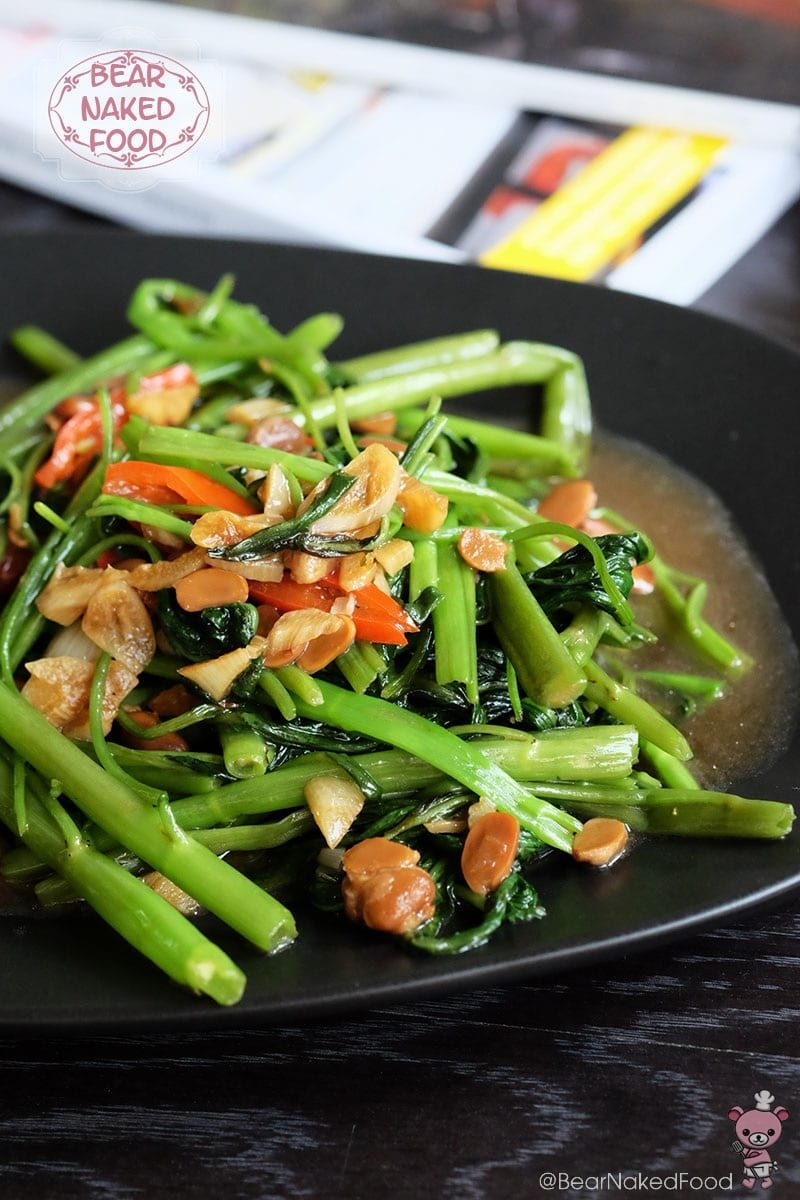 Stir Fried Kang Kong With Preserved Soy Bean Bear Naked Food