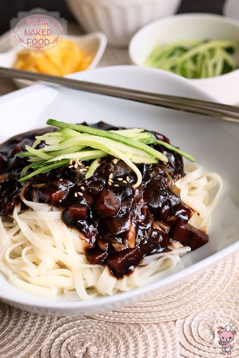 Jjajangmyeon korean black bean sauce noodles bear naked food jjajangmyeon korean black bean sauce noodles forumfinder Choice Image