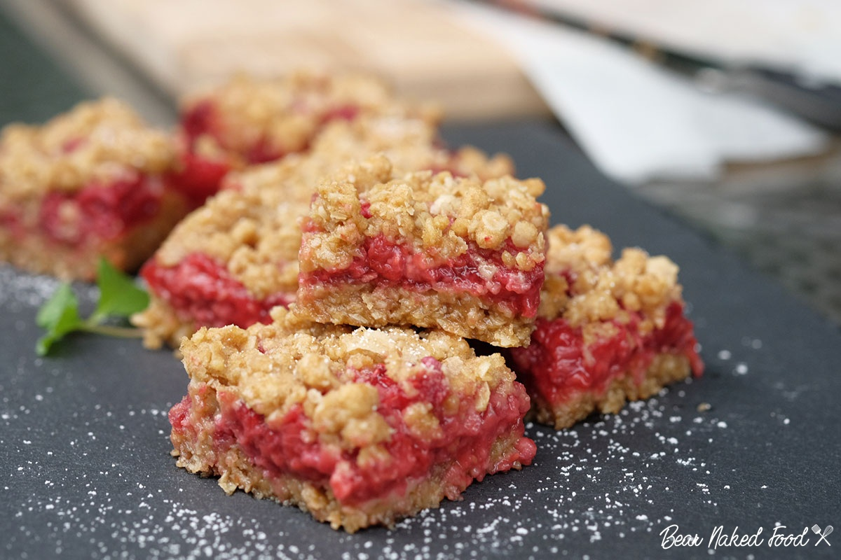 bear naked food raspberry oatmeal squares