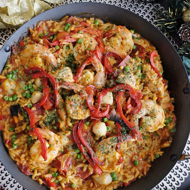 Bear Naked Food Christmas Orzo Paella