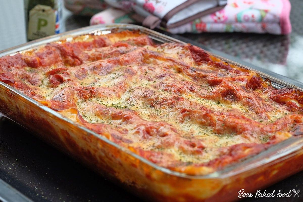Bear Naked Food Really good cheese and tomato lasagna