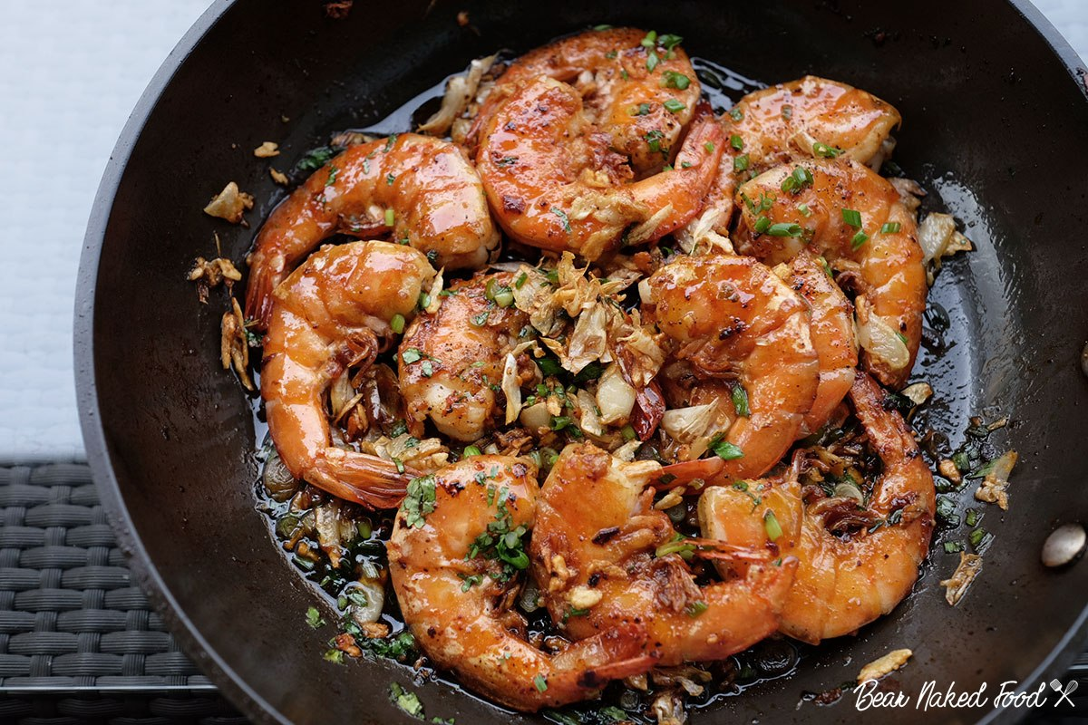 bear naked food best soy glazed garlic shrimp
