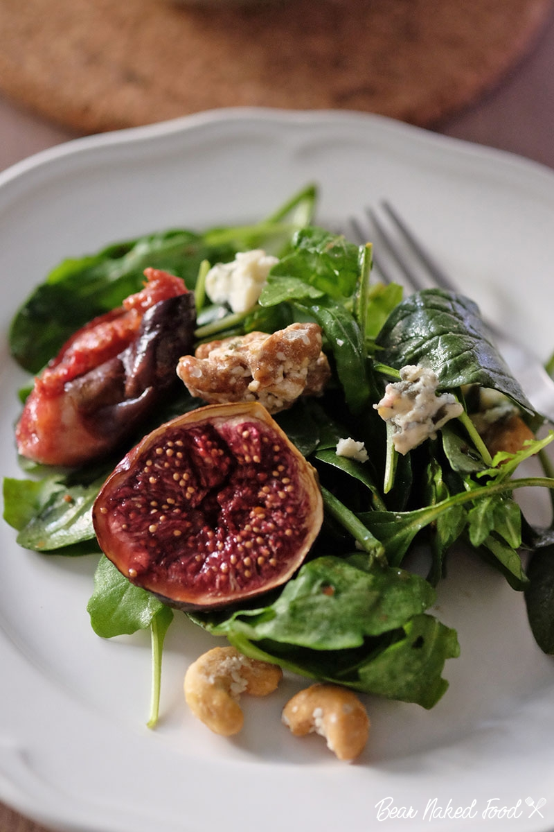 Bear Naked Food roasted fig blue cheese salad