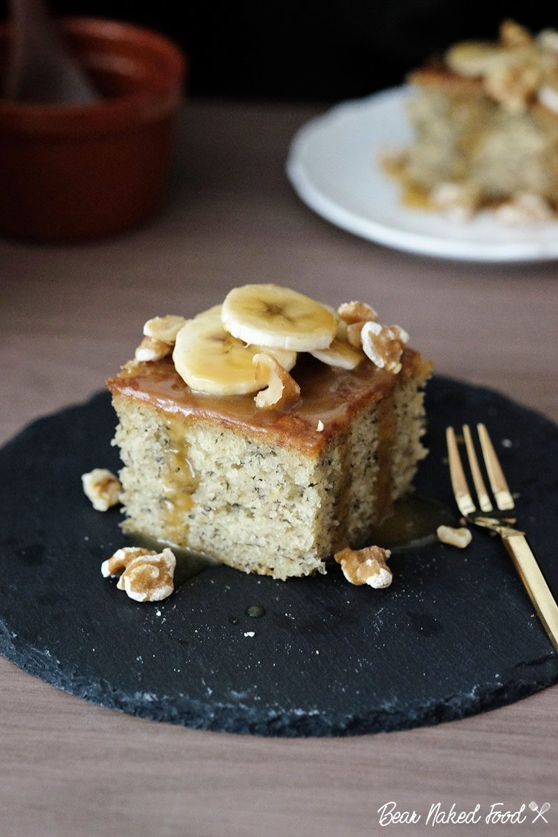 bear naked food sticky toffee banana cake