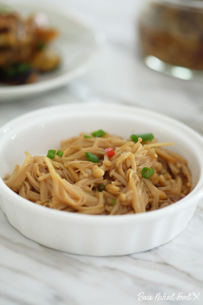 Bear Naked Food Easy Braised Enoki Mushrooms