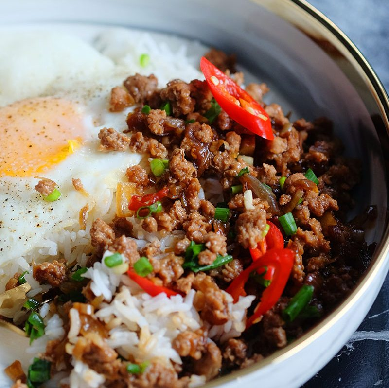 bear naked food easy stir fry minced pork