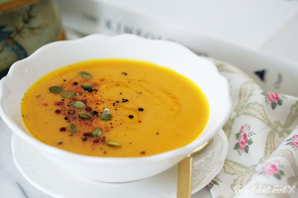 bear naked food easy roasted pumpkin soup