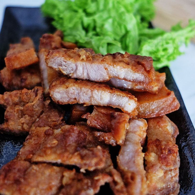 bear naked food Chinese Air-fry pork belly