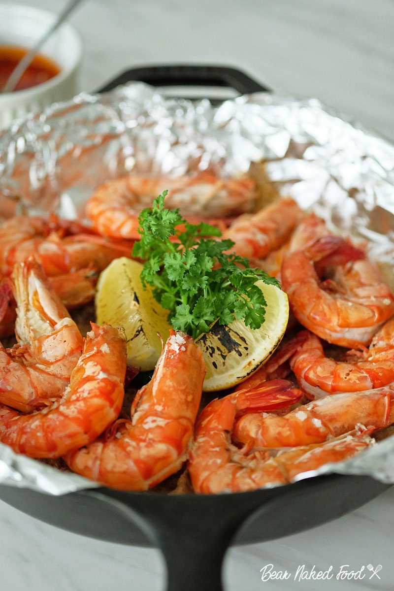 bear naked food salt roasted prawns
