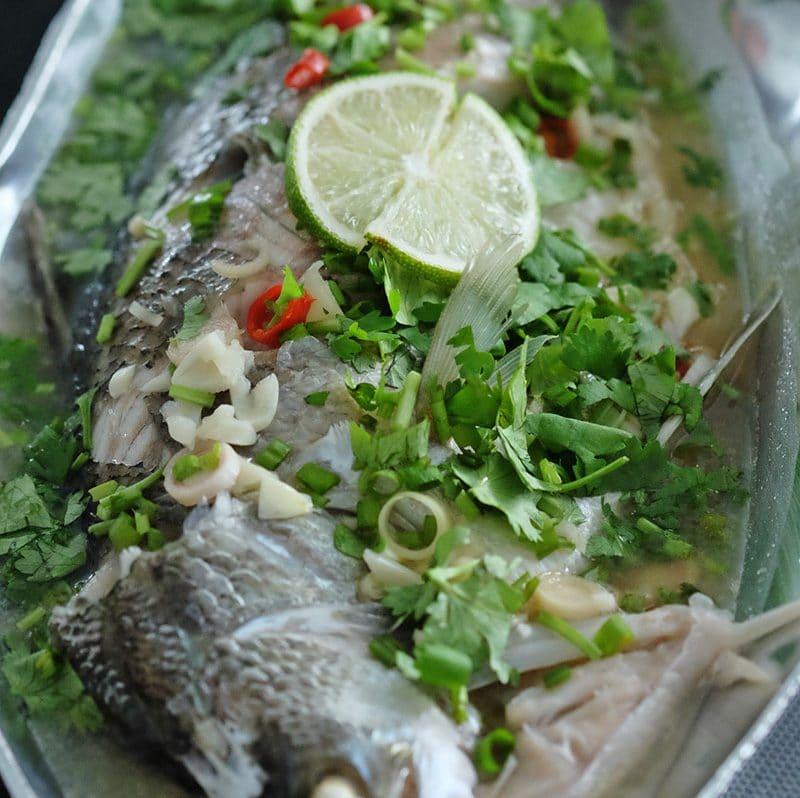 Bear Naked Food Thai Style Steamed Sea bass