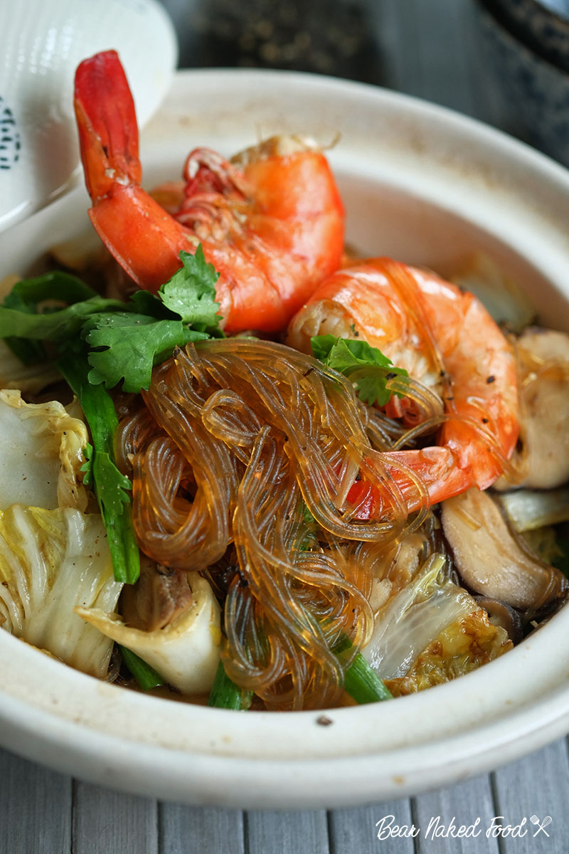 bear naked food thai style prawn with glass noodle